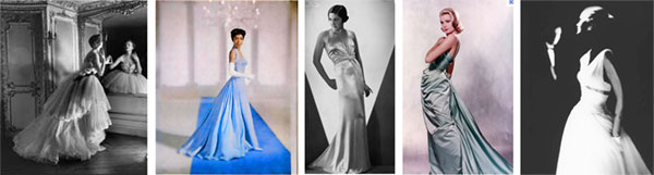 Photo montage of women's formal attire