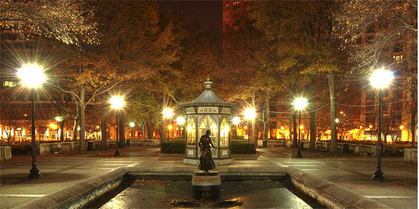Photo of Rittenhouse Square at night